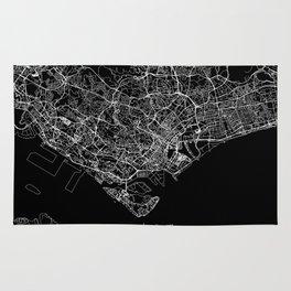 Singapore Black Map Rug