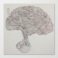 brain waves Canvas Prints featuring Brain Waves by DoodlePark