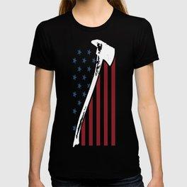 Firefighter USA Flag T-shirt