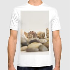 Seashells & Stones #1 #decor #art #society6 Mens Fitted Tee MEDIUM White