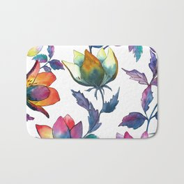 Magic fantasy flowers Bath Mat