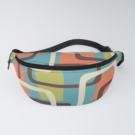 Mid Century Modern Overlapping Squares Pattern 141 Fanny Pack