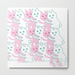 cat rabbit Metal Print