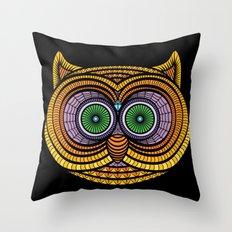Ornate Owl Throw Pillow