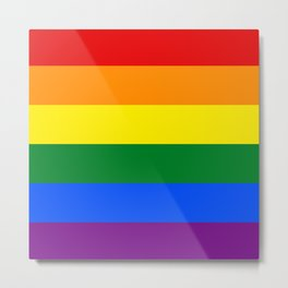 Love is Love 626 - LGBT Gay Flag Metal Print