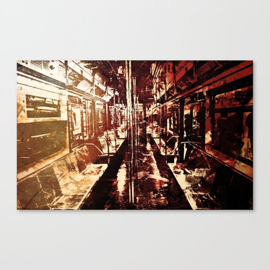 The Last Wagon Canvas Print