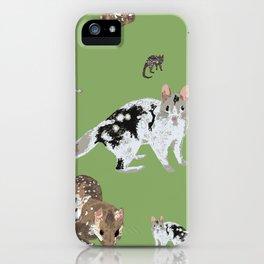 Eastern Quoll (Dasyurus viverrinus) Olive iPhone Case