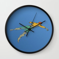 Poor Floater Wall Clock