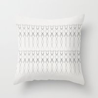 one line Throw Pillows featuring One line nude by quibe