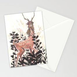 Deer girl Stationery Cards
