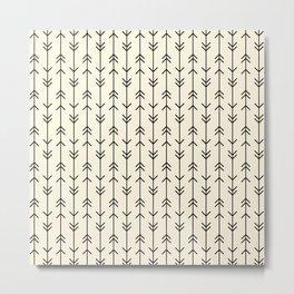 Boho Arrow Stripes Metal Print