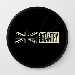 British Military: Infantry (Black Flag) Wall Clock