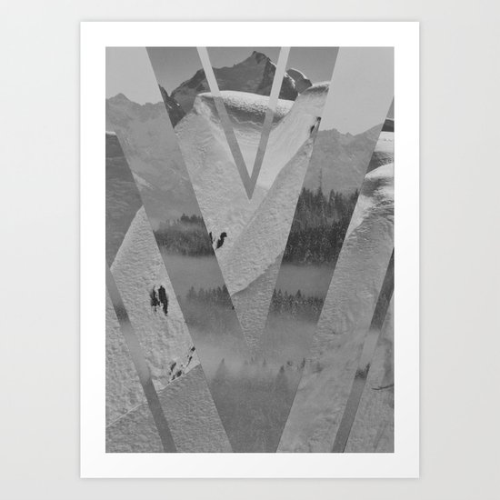 Pure black&white Art Print