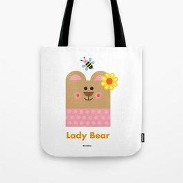 Lady Bear Tote Bag