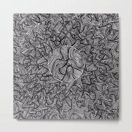 A Moon Shaped Metal Print