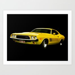 Dodge Challenger - Yellow Art Print
