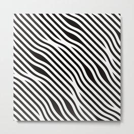 zebra pattern Metal Print