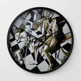 No Need for Violets Wall Clock