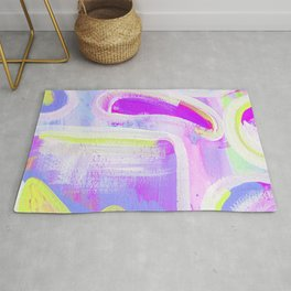 Abstract Purple Square Study Rug
