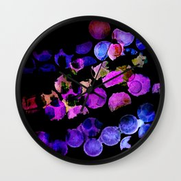 waterdots - bold colours Wall Clock