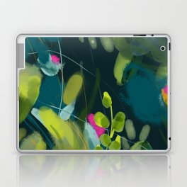 abstract jungle fever leaves in floral green Laptop & iPad Skin