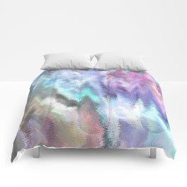 Vibrating Glitch Pastels Comforters