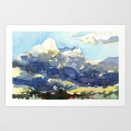 Rain in the Desert Art Print