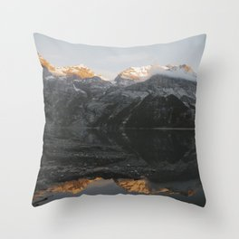 Mirror Mountains - Landscape Photography Throw Pillow
