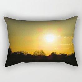 Golden sunset at Wanstead Flats Rectangular Pillow