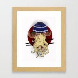 Ramen Cthulhu, the Great Old One Framed Art Print