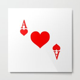 Ace of Hearts Metal Print