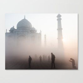 Prayer at the Taj Mahal Canvas Print