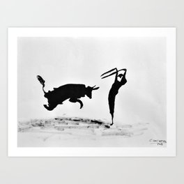 Bulls and bullfighters of Picasso II Art Print