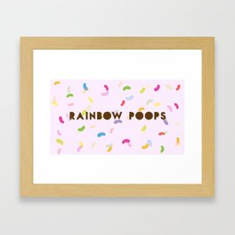 There goes rainbow poops!  Framed Art Print