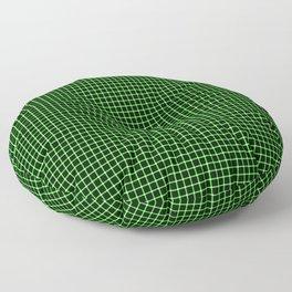 Neon Green & Black Optical illusion Floor Pillow