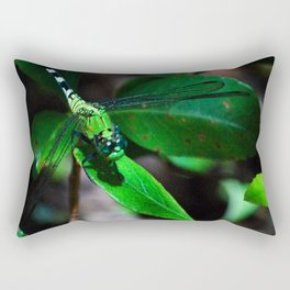 A Slightly Saturated Dragonfly Rectangular Pillow