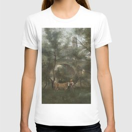 Jean-Baptiste-Camille Corot - Mantes, the banks of the Seine at the foot of the bridge T-shirt