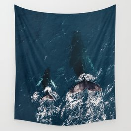 Ocean Family Whales Wall Tapestry