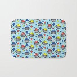 Curling Stone Print Bath Mat