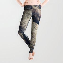 Abstract Grunge Soccer Leggings