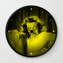 Katherine Hepburn - Celebrity (Florescent Color Technique) Wall Clock