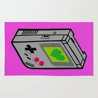 gameboy Area & Throw Rugs featuring Gameboy Love by Artistic Dyslexia