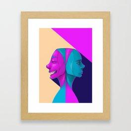 Duel of Face Framed Art Print