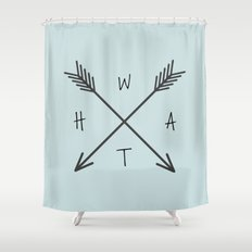 WHAT Compass? Shower Curtain