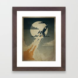 Night Launch Framed Art Print