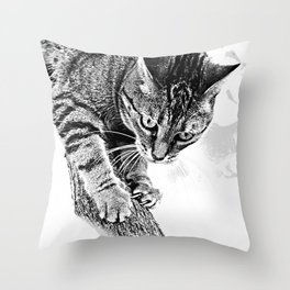 Sharpen their claws Throw Pillow