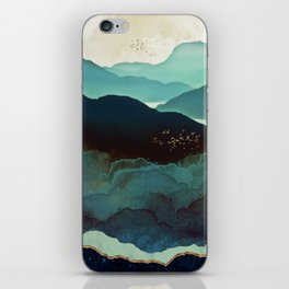 Indigo Mountains iPhone Skin