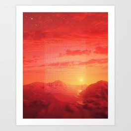 Sunsetup Art Print