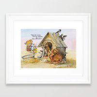 weapons of mass creation Framed Art Prints featuring weapons of mass destruction  by Rose Rigden