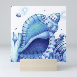 Blue Green Shells Mini Art Print